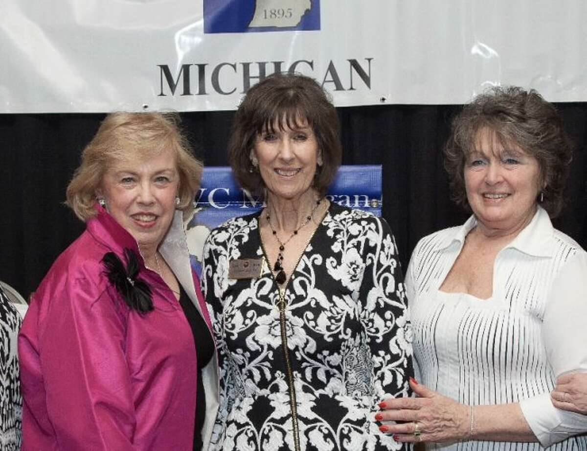 Pictured are (from left) Mary Ellen Brock, International GFWC president-elect; Donna Brown, GFWC Michigan president; and Sue Johnson, GFWC Michigan president-elect. (Courtesy photo)