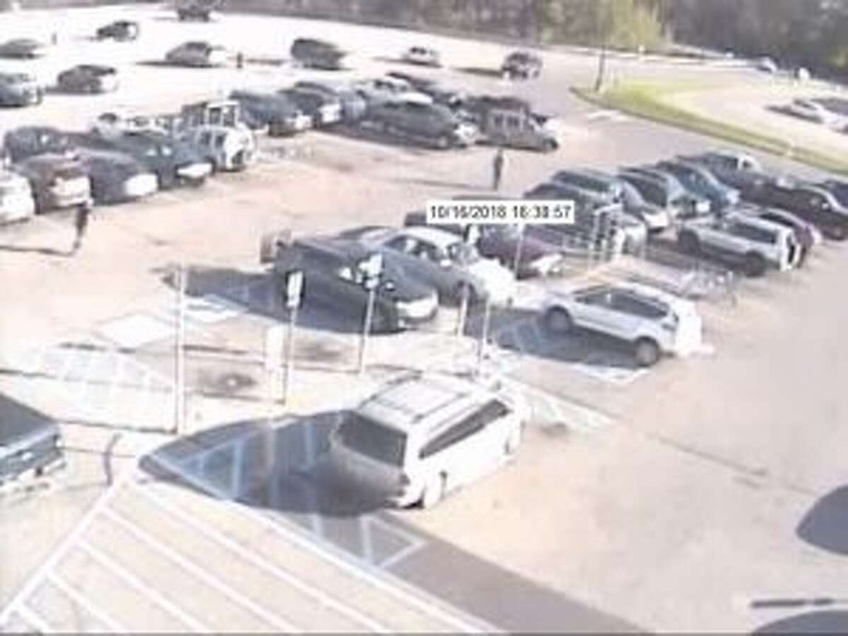 Officials believe the three suspects drove away from Walmart in a light green-colored Jeep Liberty. (Courtesy photo)