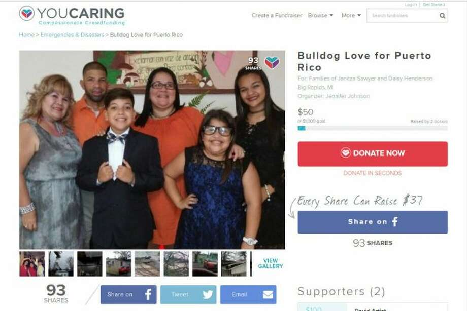 Ferris State University students are working to raise funds to help families who are recovering from hurricane damage in Puerto Rico and Dominica. Community members wishing to donate funds can do so online on the groups' YouCaring page. (Courtesy photo)