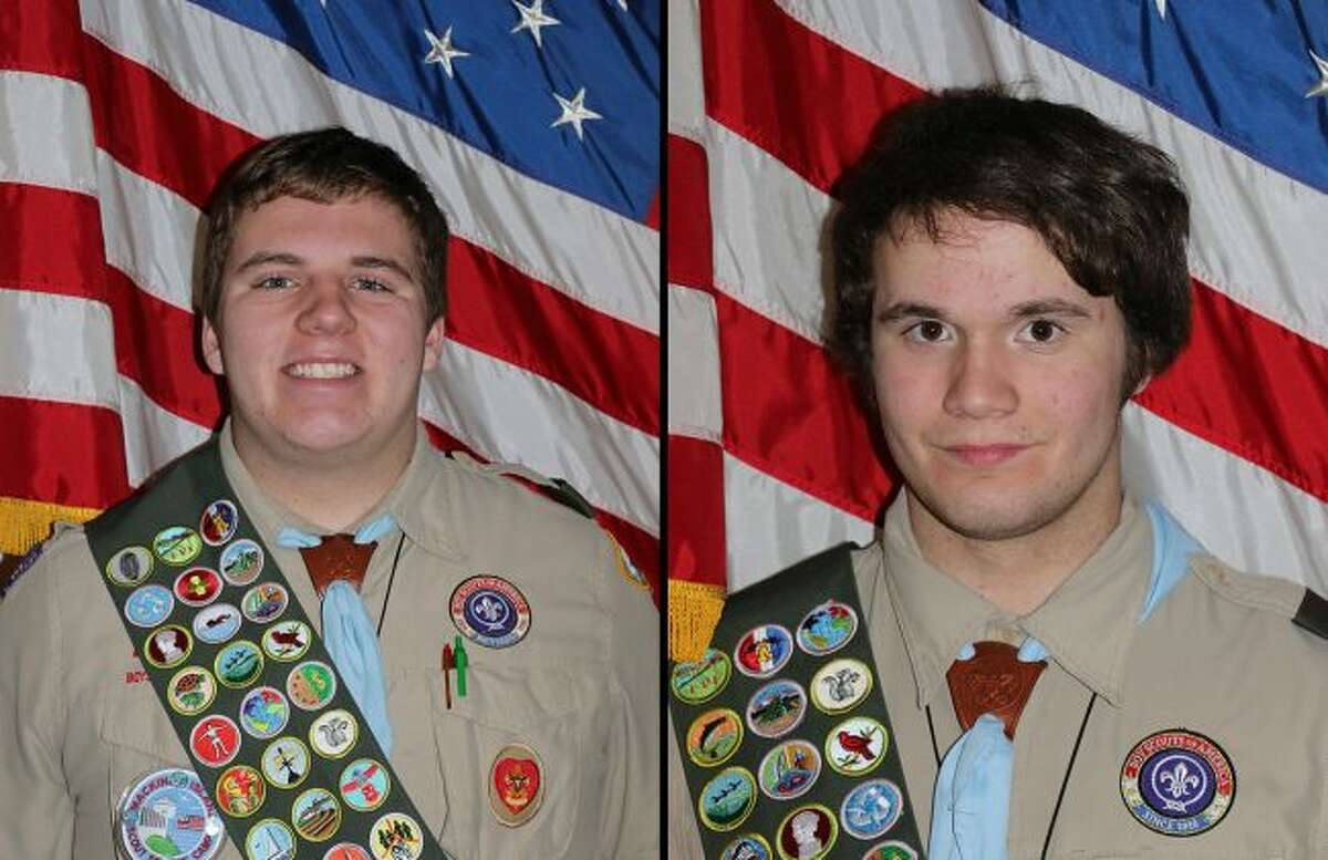 James (left) and Sean (right) McMullen, of Big Rapids, have attained the rank of Eagle Scout. (Courtesy photos)