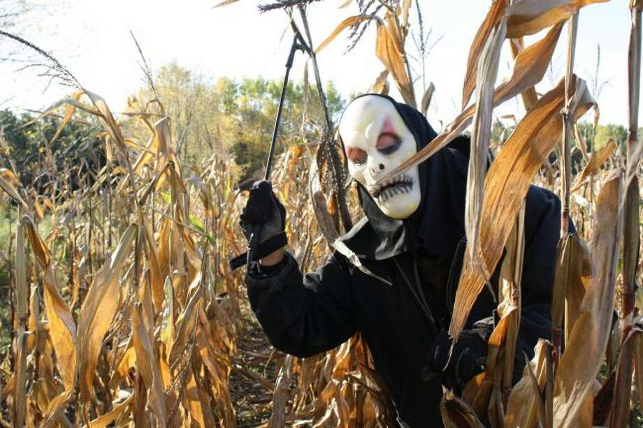 Ghouls and ghosts abound at haunted attractions throughout the area. Several, like the haunted corn maze at Four Green Fields Farm, also serve as fundraising opportunities for area nonprofit organizations. (Pioneer photo/Candy Allan)