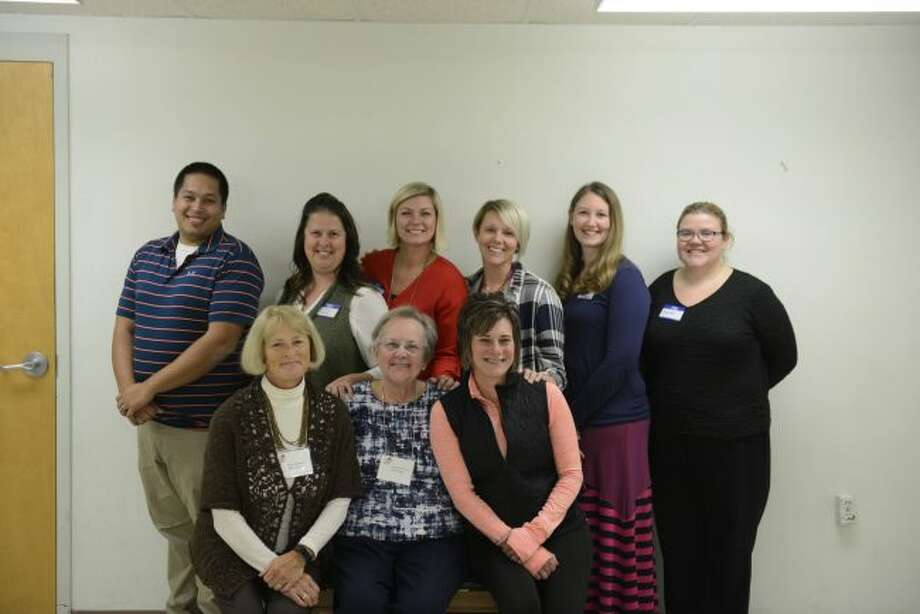 Local educators who were selected to receive grants from Delta Kappa Gamma include (from left, back row) Jay Franks, Tiffany Wolak, Aimee Gatrell, Jamie Hampel, Crystal Vanderhoff, Amanda McCarty, (front) Anne Stewart, Jeanette Fleury and Marcy Jaques. (Courtesy photo)