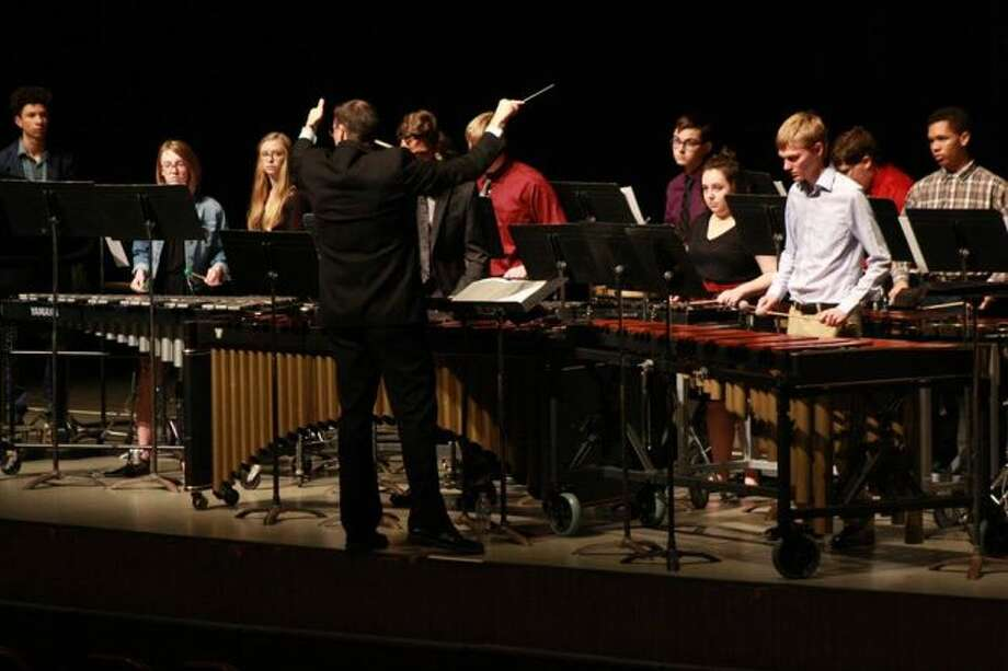 Nineteen Big Rapids High School students performed in a percussion ensemble during the Michigan Youth Arts Festival at Western Michigan University's campus in Kalamazoo. (Courtesy photo and video)