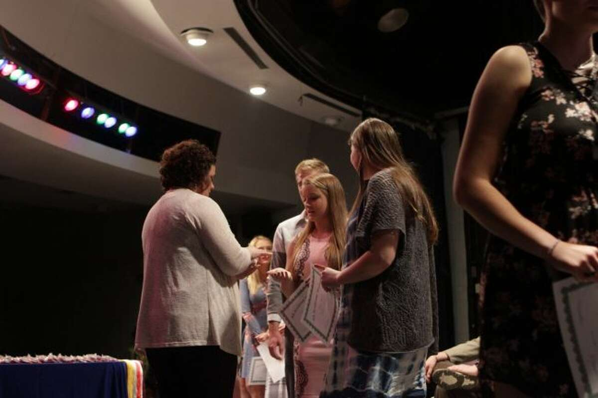 During the Chippewa Hills High School Senior Honors Night on Thursday, senior students received pins, certificates and more for their achievements. (Pioneer photo/Meghan Gunther-Haas)