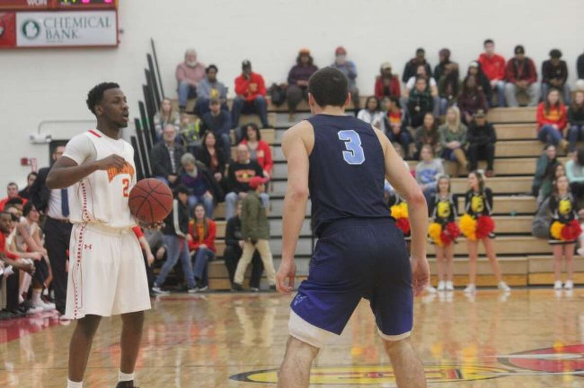 D'angelo Hughes had a big night for Ferris State's basketball team at MSU. (Ferris file photo)