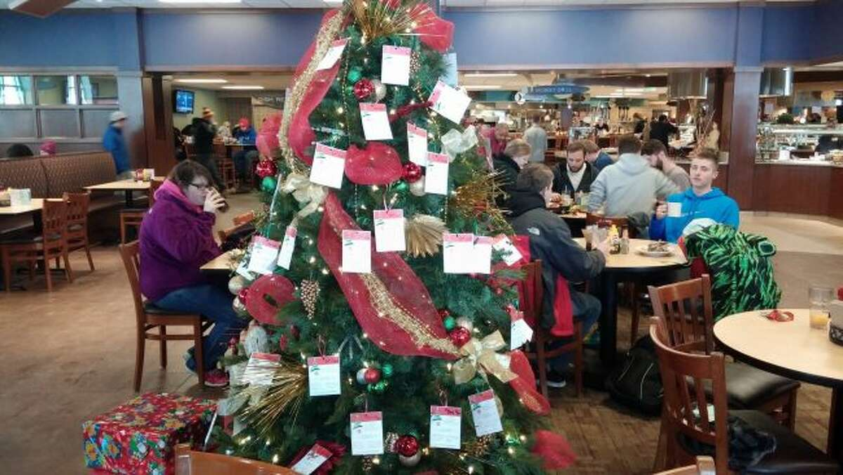 Tags cover a past Salvation Army Angel tree. Donors may select a tag from the tree, purchase gifts according to the ideas listed and then bring the new, unwrapped presents to a collection location. (Courtesy photo)