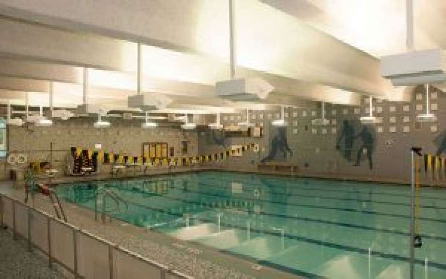 The Trumbull Aquatics Facilities Committee is looking into the feasibility of constructing a new pool that would be nearly twice the size of the pool at Hillcrest Middle School. Photo: Donald Eng