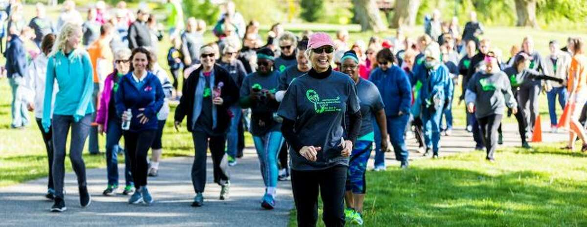 Susan Wheatlake leads the wellness walk during a previous Wheatlake Festival of Races. This year, the races are set to begin at 8 a.m. on Saturday, May 18. (Courtesy photo)