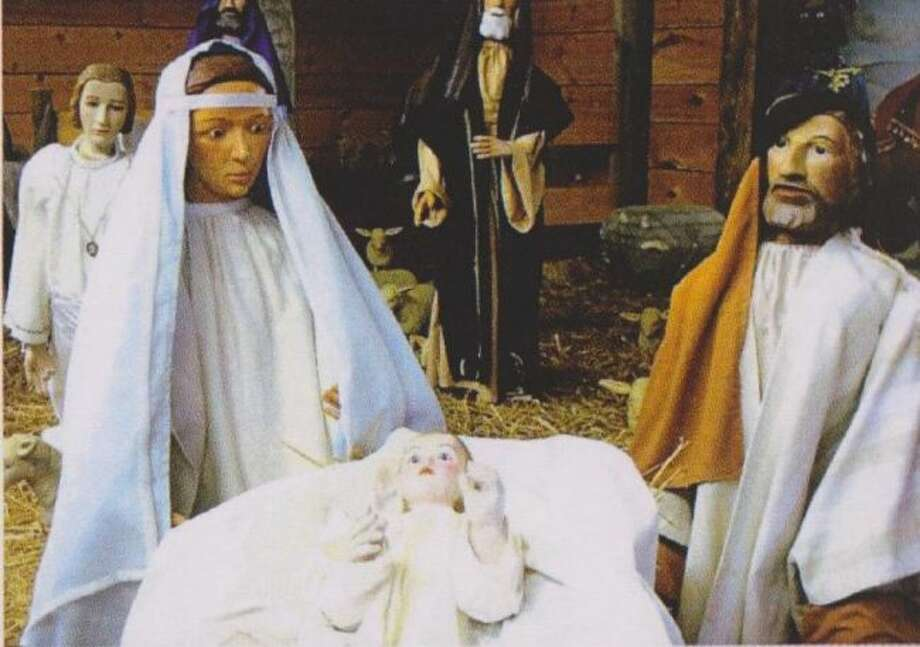 A close-up look at the carvings depicting Joseph, Mary and Jesus. (Courtesy photo)