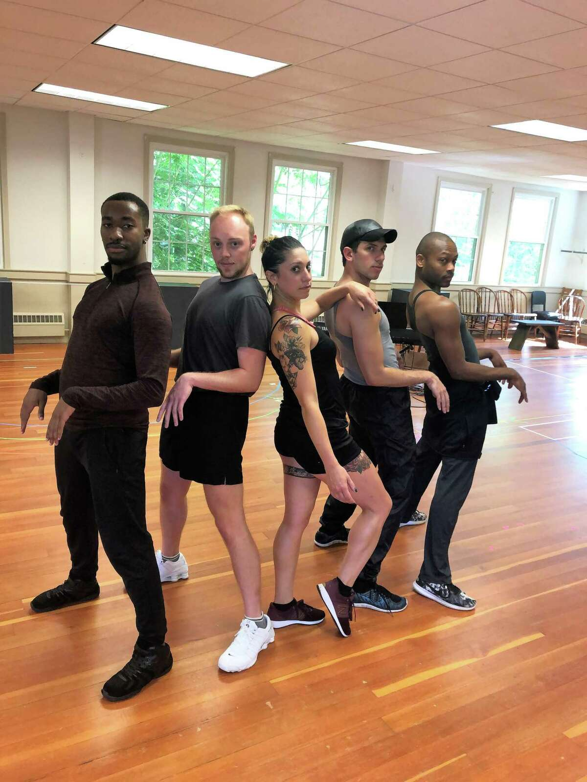 """LIFE'S A CABARET: From left, Amani Pope, Jayke Workman, Katie Mack, Max Weinstein and Taavon Gamble star in Ivoryton Playhouse's new production of """"Cabaret,"""" running Aug. 7 to Sept. 1. Tickets are $20-$55. Call 860-767-7318 or visit ivorytonplayhouse.org."""