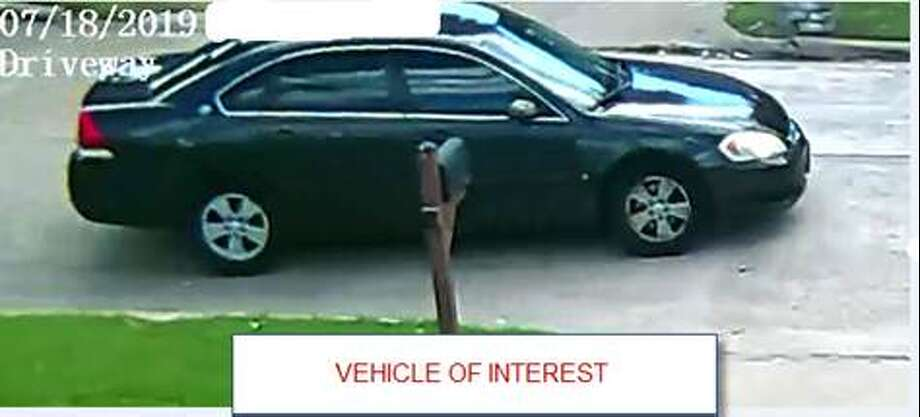 The vehicle of interest is described as a dark color, 4-door, Chevrolet Impala with tinted windows. Photo: Fort Bend County Sheriff's Office