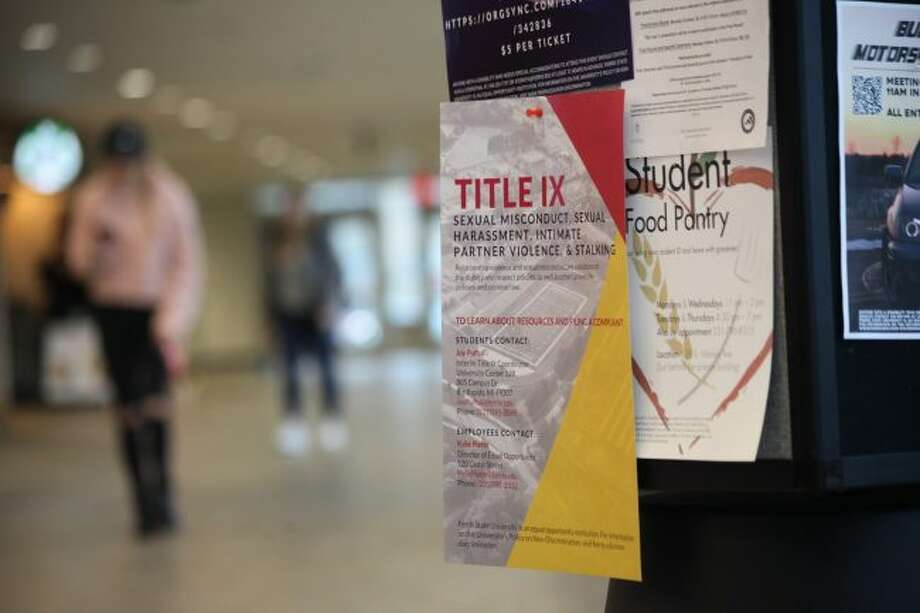 Ferris State University administrators have been working to make campus a safer place from sexual misconduct. One of the many methods administrators are using is increasing education for students, staff and faculty through different events. (Pioneer photos/Taylor Fussman)