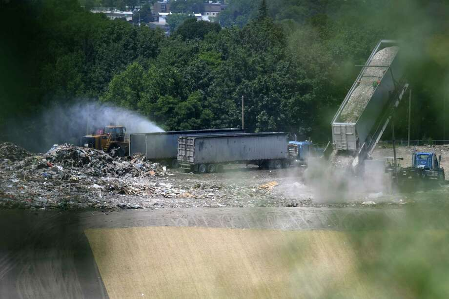 Waste is dumped at the S.A. Dunn Landfill on Friday, July 26, 2019, in Rensselaer, N.Y. (Will Waldron/Times Union) Photo: Will Waldron, Albany Times Union