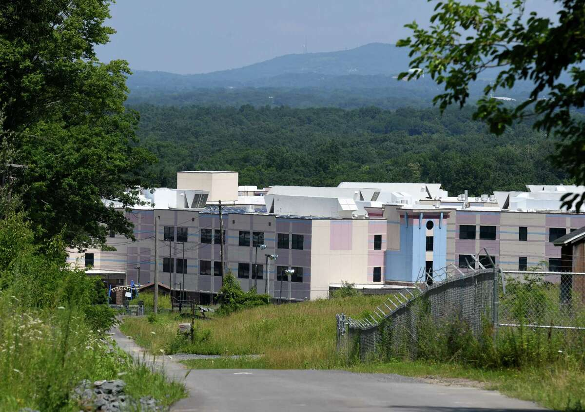 View of the Rensselaer school complex seen from Partition Street Extension cross from the S.A. Dunn Landfill on Friday, July 26, 2019, in Rensselaer, N.Y. (Will Waldron/Times Union)