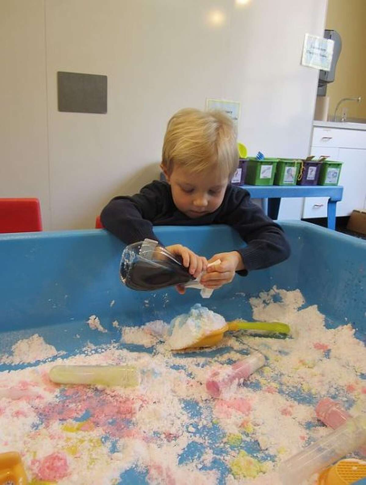 A child plays during an Imagination Lab session at the Grand Rapids Children's Museum. The museum, along with other locations in Grand Rapids and Mount Pleasant offer a variety of day trip adventures during the holiday break. (Courtesy photo)