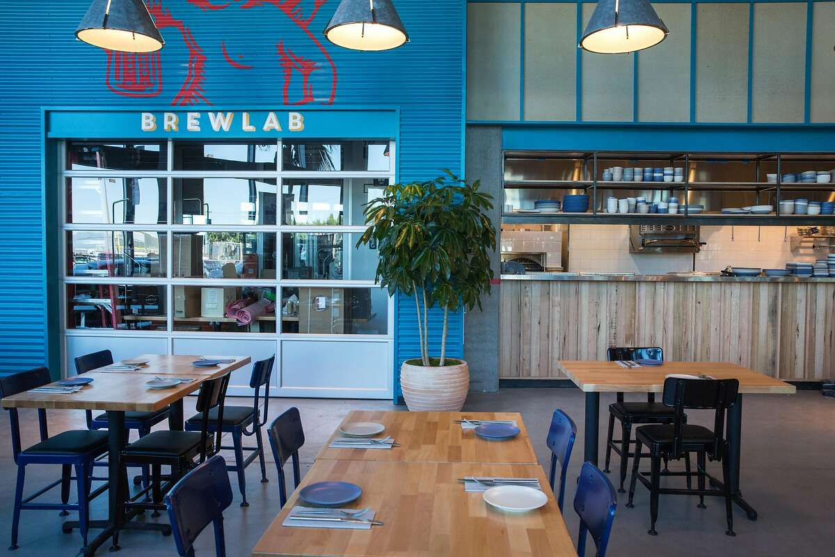 Interior space of Little Creatures Brewery a new brewery opening in San Francisco's Mission Bay neighborhood on Friday July 26. The project comes via an Australian beer company called Little Creatures. On Tuesday, July 23, 2019. San Francisco, Calif.