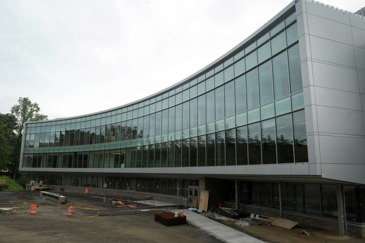 The new Dolan School of Business under construction on the campus of Fairfield University, in Fairfield, Conn. July 21, 2019.