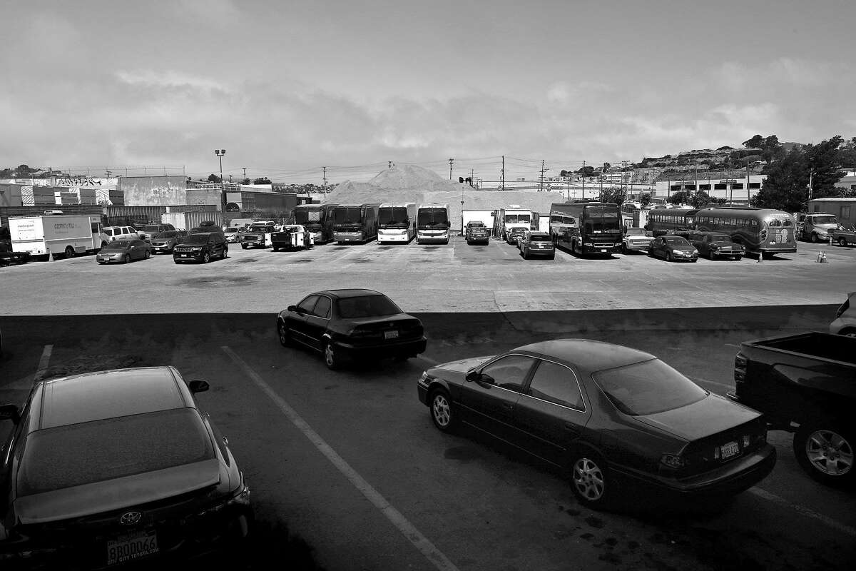 The city is selecting new 200-bed Navigation Center on this Caltrans property seen underneath the 280 freeway on Friday, July 26, 2019 in San Francisco, Calif.