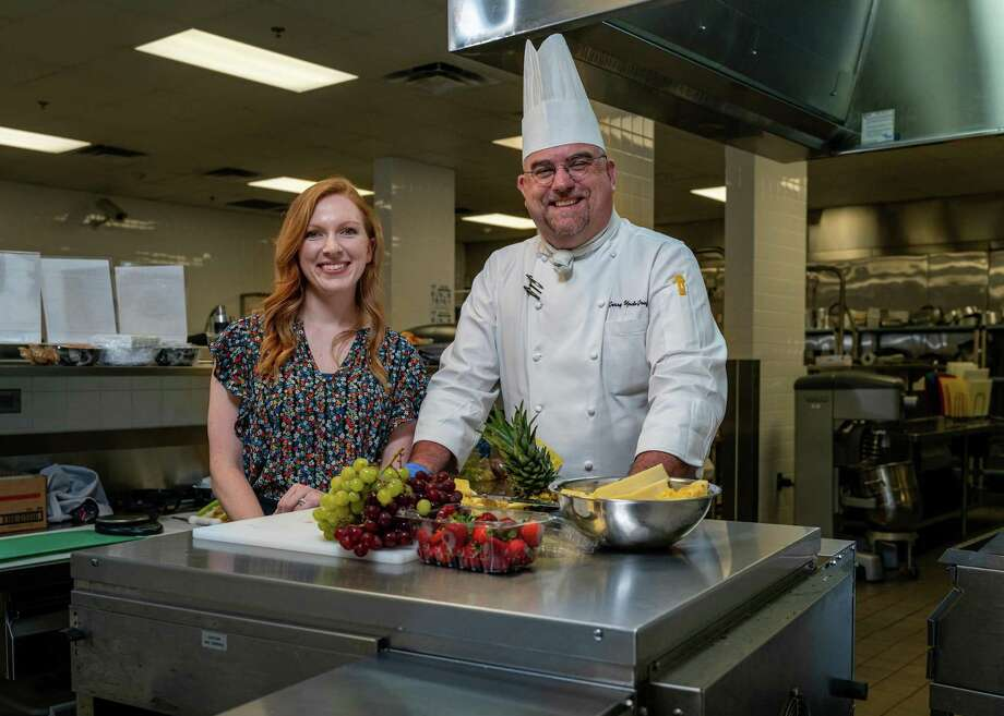 Spring ISD Dietitian Jennifer Fasano and ChefGerry UpdeGraff have several new menu items planned for students in the 2019-2020 school year. Photo: Courtesy Of Spring ISD, Web Specialist & Photographer / Spring Independent School District