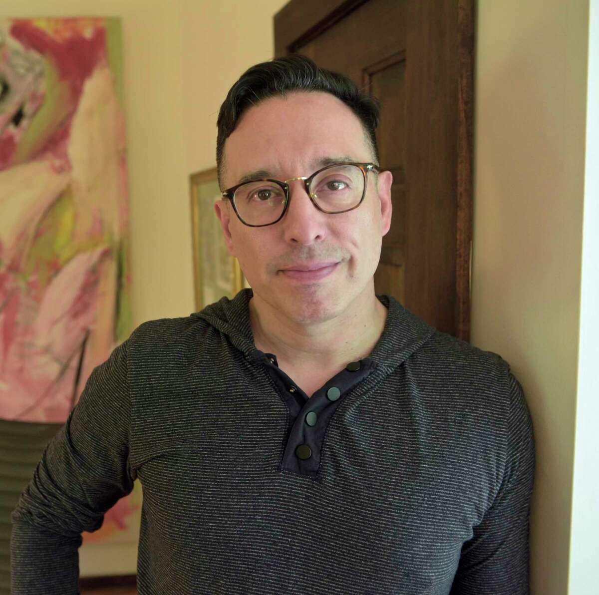Fernando Luis Alvarez, owner of the former Stamford art gallery of the same name and co-creator of the Spoon Movement, which aims to raise awareness about the opioid crisis. Monday, July 22, 2019, in Redding, Conn.