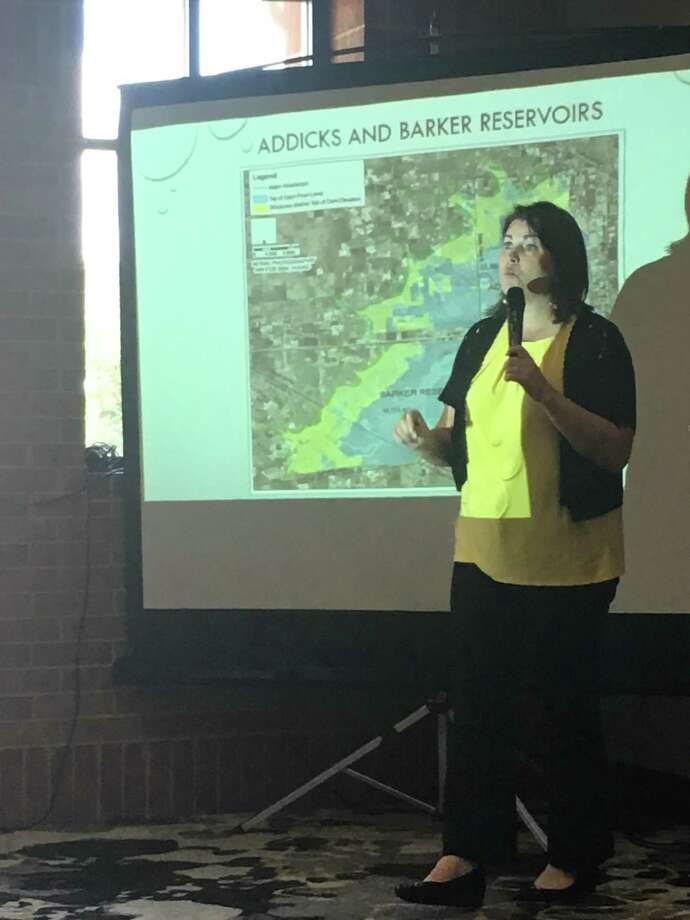 "Wendy Duncan, director, Willow Fork Drainage District and co-founder of Barker Flood Prevention, presented a program called ""Hurricane Harvey and the Path Forward"" at a July 2019 meeting of the Rotary Club of Katy. Photo: Karen Zurawski / Karen Zurawski"