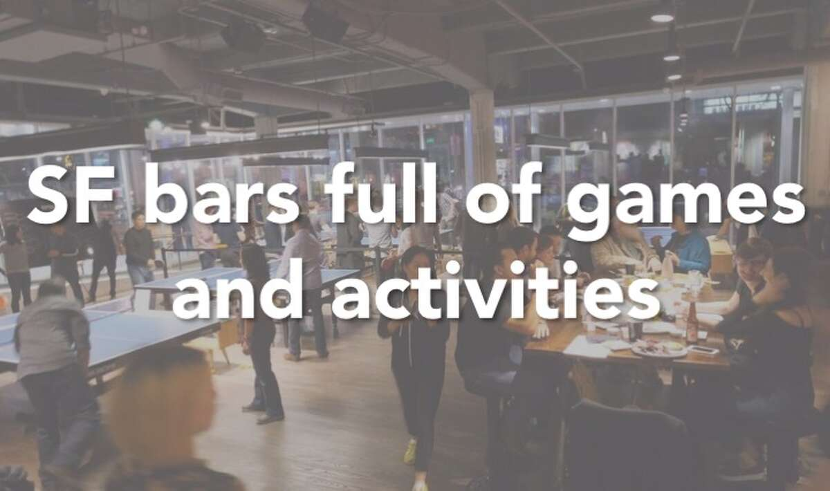 Want to grab a few drinks and play some classic games like billiards and ping pong? Then look no further than this list. Click through the slideshow for some bars in SF full of games and activities to entertain you for the whole night.