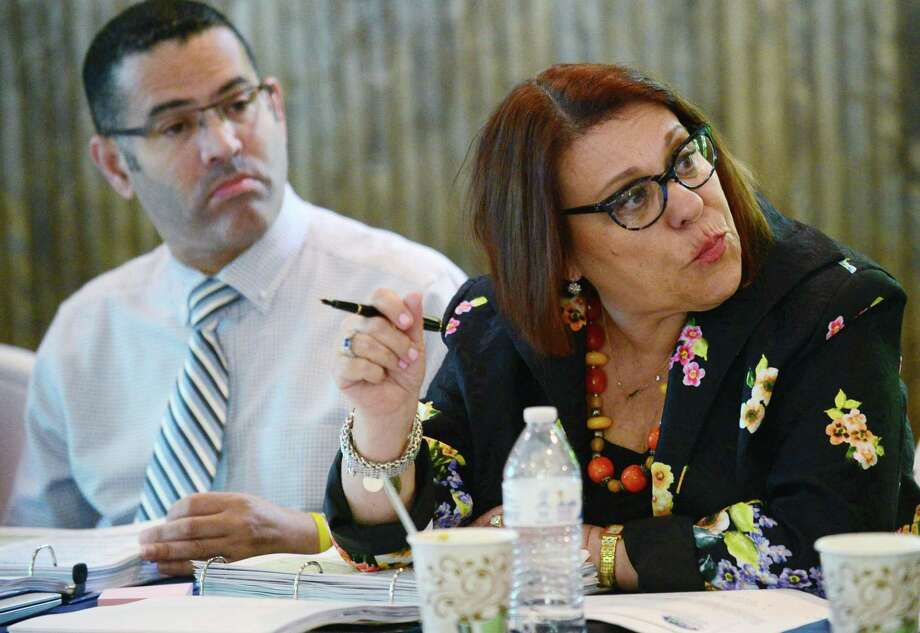 Yvette Goorevitch, Chief of Specialized Learning and Student Services, speaks at The Norwalk Board Of Education retreat session, Raising the Bar - Closing the Gap, Friday, July 26, 2019, at the Bunkhouse Pavillion at Cranbury Park in Norwalk, Conn. Photo: Erik Trautmann / Hearst Connecticut Media / Norwalk Hour
