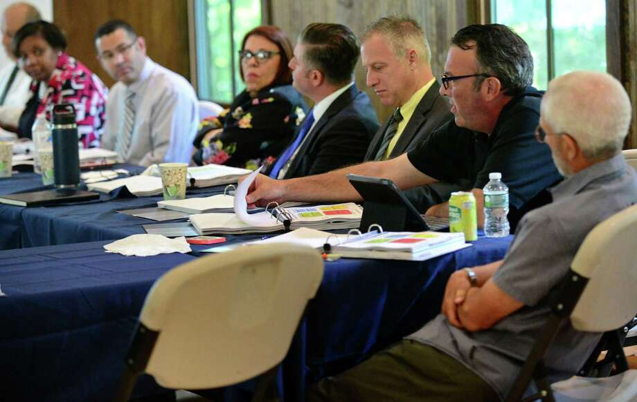 The Norwalk Board Of Education retreat session, Raising the Bar - Closing the Gap, Friday, July 26, 2019, at the Bunkhouse Pavillion at Cranbury Park in Norwalk. Norwalk SPED Partners is hosting an open forum for Board of Education candidates on Monday, Sept. 23, 2019. Photo: Erik Trautmann / Hearst Connecticut Media / Norwalk Hour