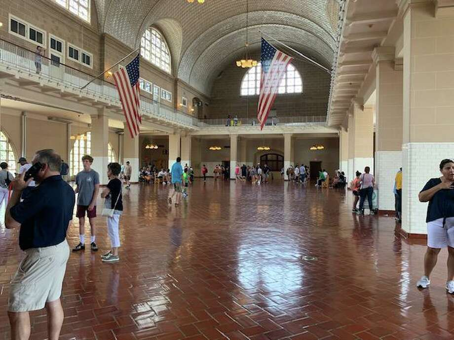 The Registry room where newly arrived immigrants were processed on Ellis Island. More than 12 million people came through this room when the federal government center was open from 1892 to 1954. Photo: Jacqueline Smith / Hearst Connecticut Media