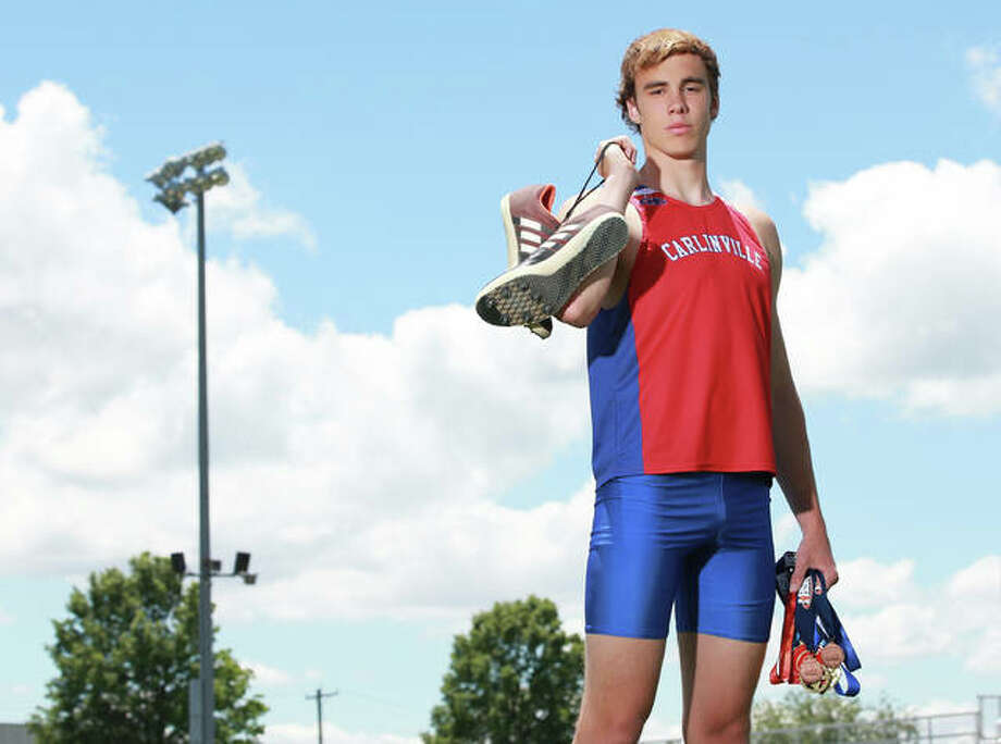 Carlinville's Will Walton is the 2019 Telegraph Small-Schools Boys Track Athlete of the Year. Walton placed fourth in the triple jump and eighth in the long jump at the Class 1A state meet. Photo: Billy Hurst | For The Telegraph