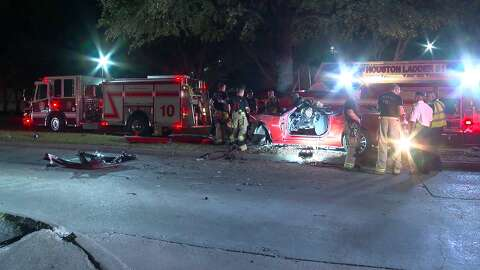 Driver killed, passenger in critical condition after car