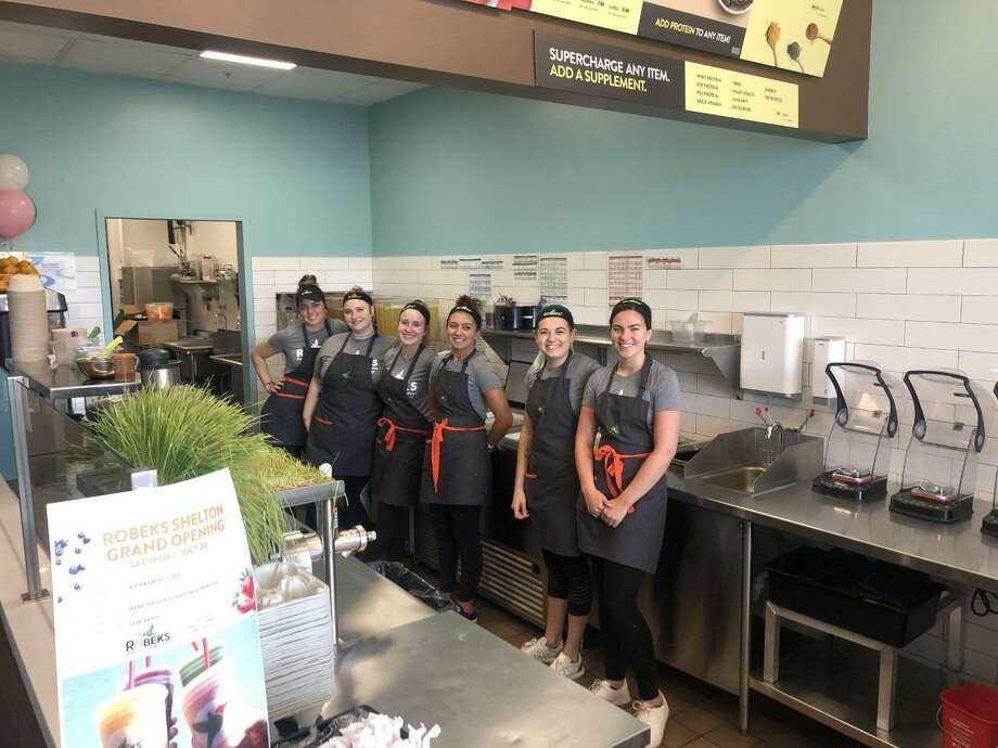 The staff was ready for Robeks' grand opening Saturday, July 20. Photo: Contributed Photo / / Connecticut Post