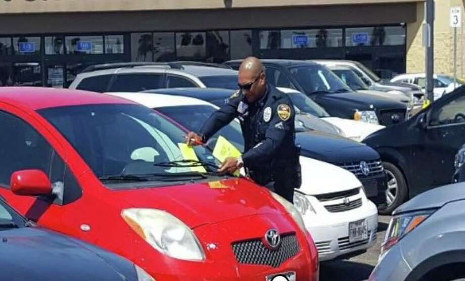 The Laredo Police Department gave out report cards at Mall del Norte Friday. Photo: Courtesy Of The LPD