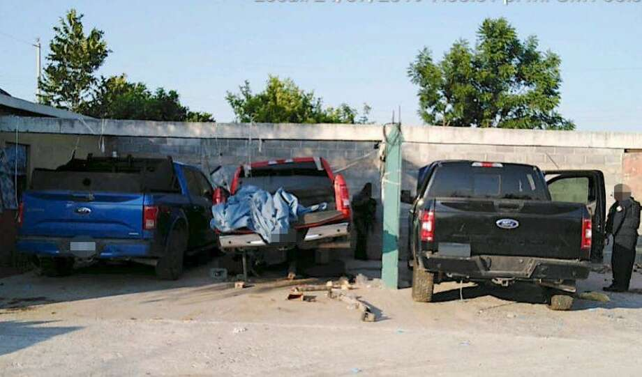 Three vehicles were recovered in Nuevo Laredo by authorities after they were reported stolen. Photo: Courtesy Photo