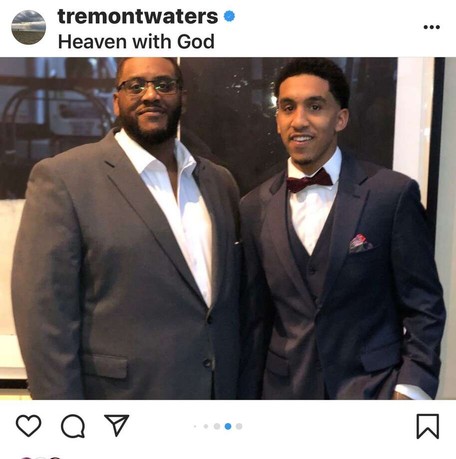 Tremont Waters' Instagram post about his late father Ed. Photo: Instagram / @tremontwaters