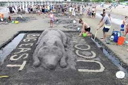The 42nd annual Sand Sculpture Competition hosted by the Milford Arts Council at Walnut Beach in Milford on July 27, 2019.