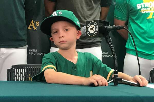 sale retailer d4fc1 54f34 Boy predicts Matt Chapman's HR; sparks fly in A's win over ...