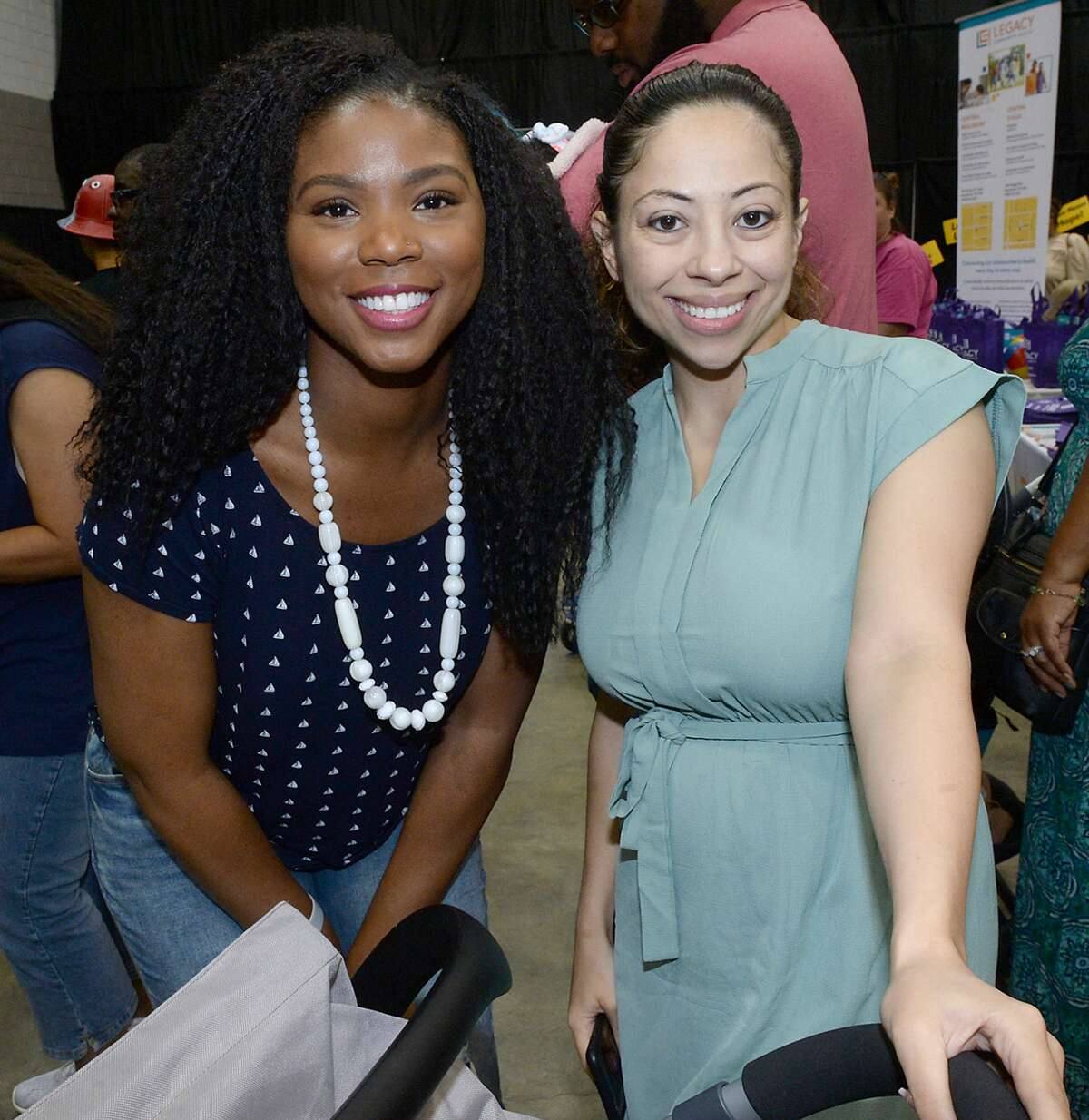 Families take in the many vendors and activities at the annual Cumulus Baby & Family Expo at the Civic Center Saturday. Photo taken Saturday, July 27, 2019 Kim Brent/The Enterprise
