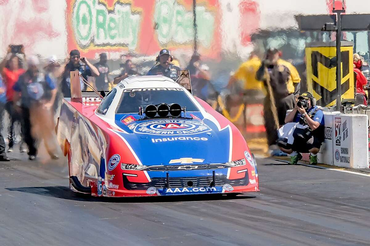 Robert Hight, who led qualifying in the Funny Car category, will shoot for his 50th career win Sunday.