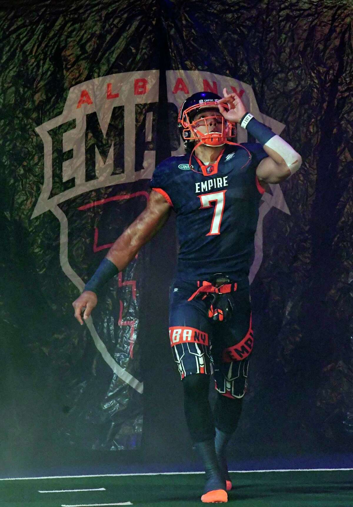 Malachi Jones takes the field against Baltimore when the team played in the Arena Football League. He is rejoining the team now that it's in the National Arena League.