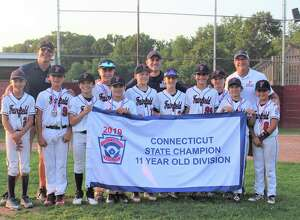Fairfield National Little League won the 11U Connecticut State Championship by defeating Simsbury 4-1 last week in East Lyme. Fairfield National was 13-1 during the districts, sectionals and state tournament. Fairfield National is representing Connecticut in the Tournament of Champions in Beverly, Mass., against teams from both New England and the Mid-Atlantic. From left: Brady Takacs, Dylan McDonald, Jake Coppola, Jimmy Dobbs, Noah Bertot, Henry Vincent, Andrew Shelov, Nick Garofalo, Colin Stowell, Nathan Jackson and Nick Crosley.Manager: Jason Takacs, Coaches: Michael Bertot and David Dobbs.