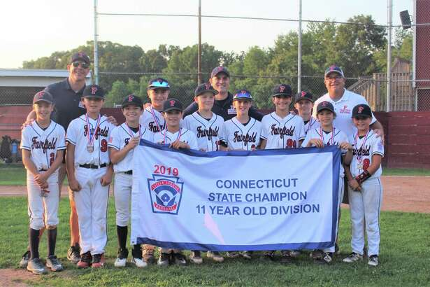 Fairfield National Little League won the 11U Connecticut State Championship by defeating Simsbury 4-1 last week in East Lyme. Fairfield National was 13-1 during the districts, sectionals and state tournament. Fairfield National is representing Connecticut in the Tournament of Champions in Beverly, Mass., against teams from both New England and the Mid-Atlantic. From left: Brady Takacs, Dylan McDonald, Jake Coppola, Jimmy Dobbs, Noah Bertot, Henry Vincent, Andrew Shelov, Nick Garofalo, Colin Stowell, Nathan Jackson and Nick Crosley. Manager: Jason Takacs, Coaches: Michael Bertot and David Dobbs.