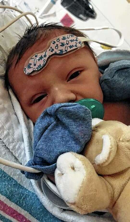 Kalvin Leo Jennings is awaiting a heart transplant after being born with a heart defect.