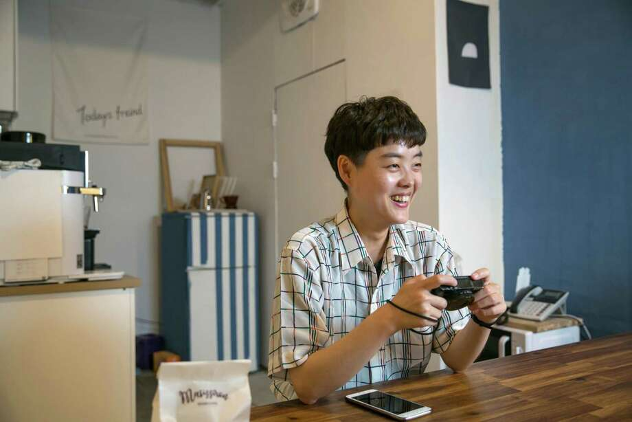 "Baeck Hana, a host of a feminist Youtube segment, ""Honsarm Bigyeol,"" in Seoul, South Korea, on July 13, 2019. Photo: Bloomberg Photo By Jean Chung. / 2019 Bloomberg Finance LP"