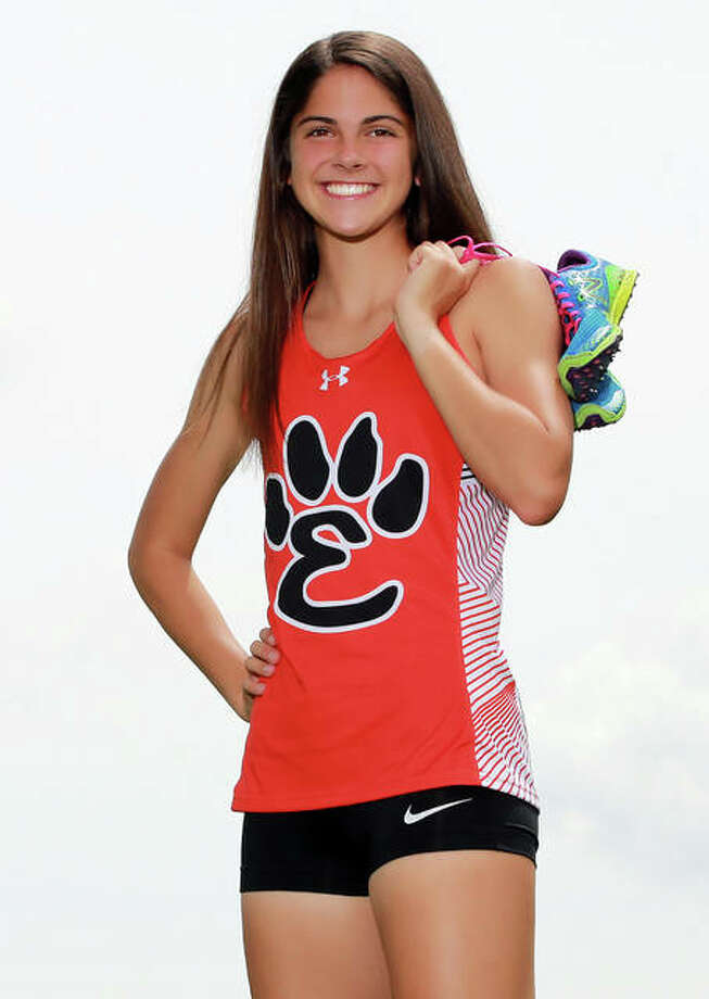 Edwardsville's Abby Korak is the 2019 Telegraph Large-Schools Girls Track Athlete of the Year. Photo: Billy Hurst / For The Telegraph