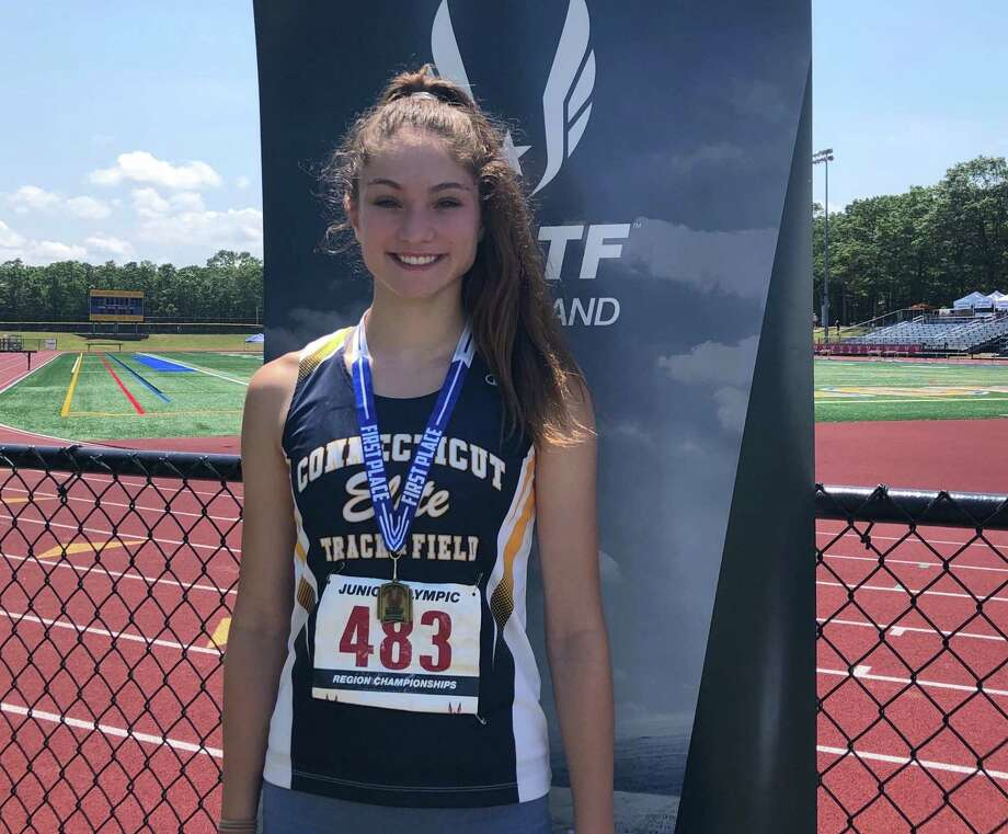 Shelby Dejana was one of seven athletes from the Wilton-based Connecticut Elite Track & Field Club who qualified for a national meet. Photo: Contributed Photo / Connecticut Elite Track & Field Club
