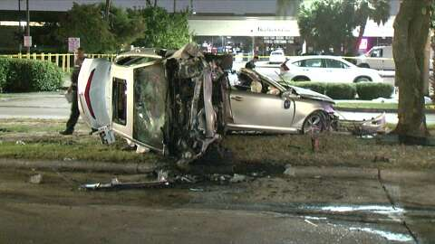 2 dead in apparent drunken driving crash in SW Houston - Houston