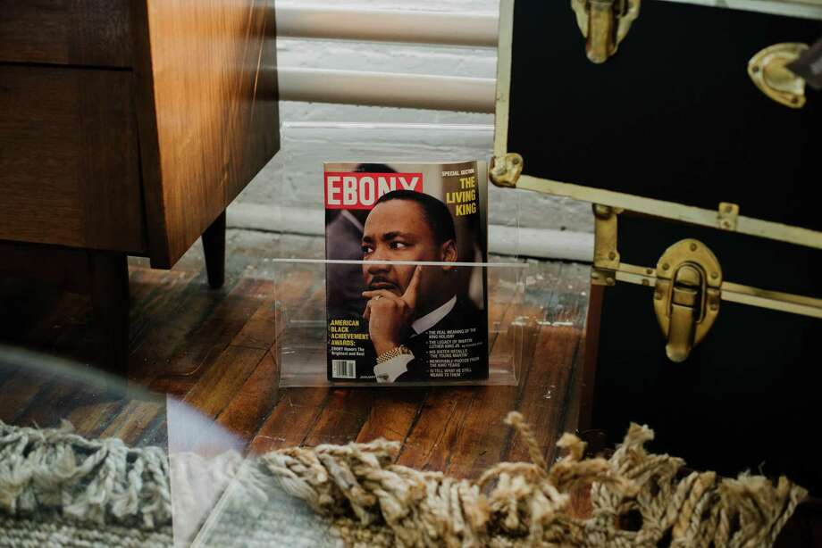 FILE -- An issue of Ebony magazine from January 1982 in Baltimore, Md., March 27, 2019. The vast photo archive of Ebony and Jet magazines has been sold to a group of four major foundations with a promise that it will be available to the public. (Kristian Thacker/The New York Times) Photo: KRISTIAN THACKER, STR / NYT / NYTNS