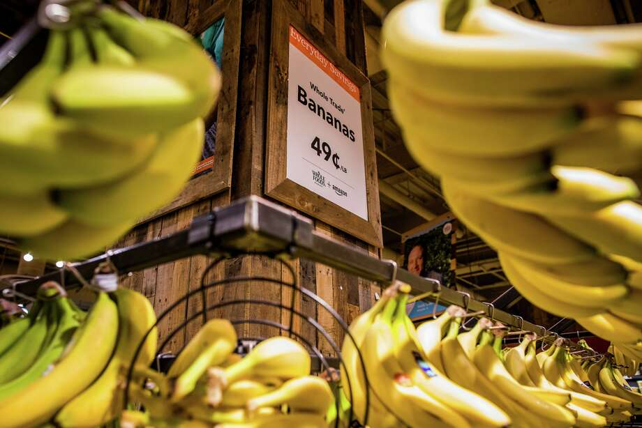 The marriage of Amazon and Whole Foods has made clear the difficulties of selling fresh food inexpensively, either in a physical store or through delivery. Bananas are not the same as books. Photo: Drew Anthony Smith For The New York Times