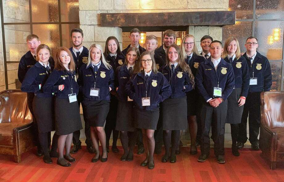 During the week of July 15-19, 17 Dayton FFA members and four Agricultural Science Teachers traveled to Fort Worth to attend the 81st annual Texas FFA State Convention. The students attended sessions that featured leadership, teamwork, and the endless opportunities that the FFA has to offer them. Photo: Submitted